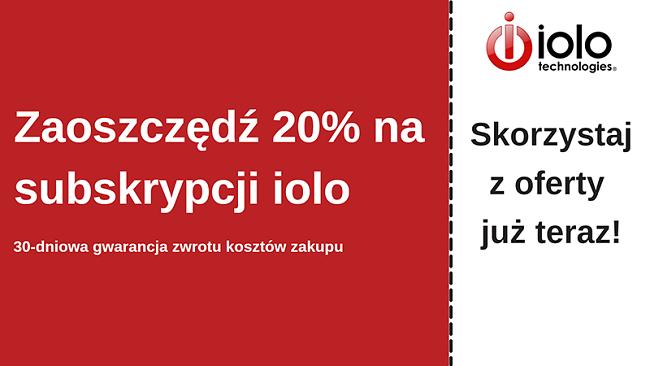 Kupon antywirusowy iolo z rabatem do 20% na wszystkie plany i 30-dniową gwarancją zwrotu pieniędzy