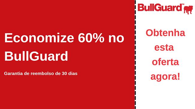 Cupom de antivírus BullGuard com 60% de desconto e garantia de devolução do dinheiro em 30 dias