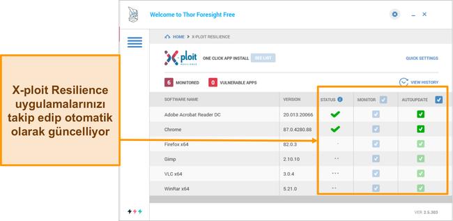 Heimdal'ın Xploit Resilience özelliğinin ekran görüntüsü.