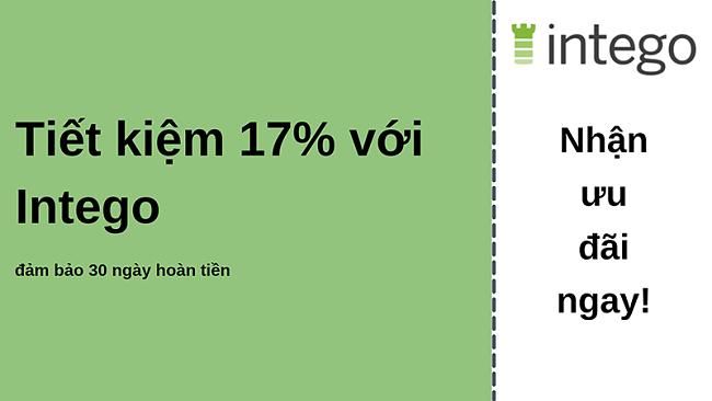 Phiếu giảm giá chống vi-rút Intego giảm giá 17% và đảm bảo hoàn tiền trong 30 ngày