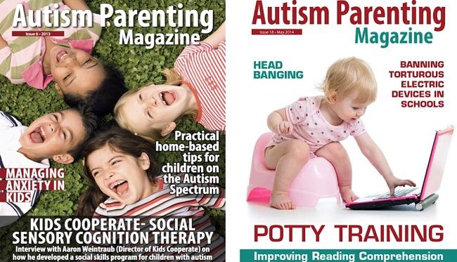Screenshots of the Autism Parenting Magazine app