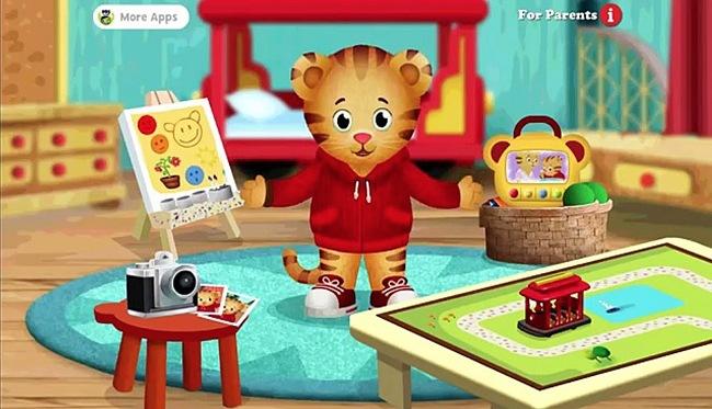 Screenshot of the Daniel Tiger Grr-ific Feelings app