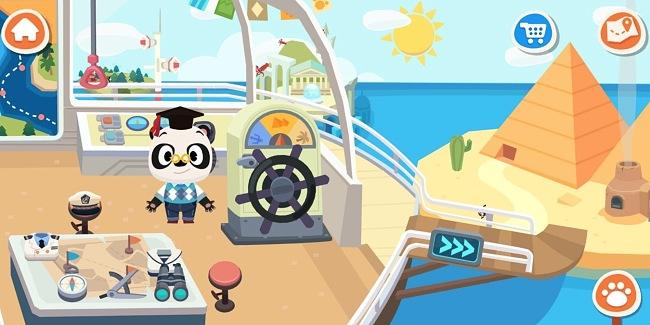 Screenshot of the Dr. Panda on Holiday app
