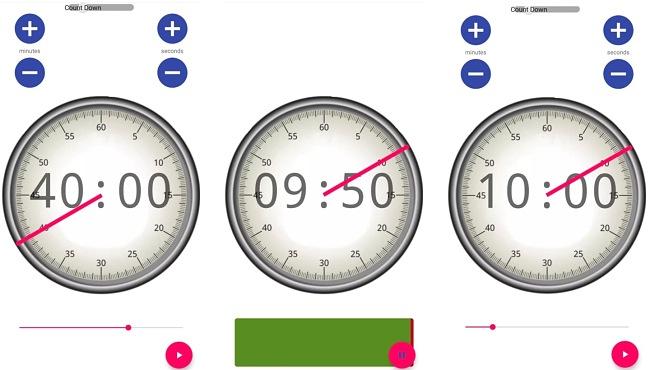 Screenshots of I'm On It Focus Timer app
