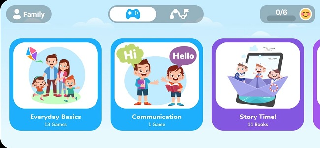 Screenshot of the Otsimo app