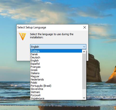 Freemake Choose your language