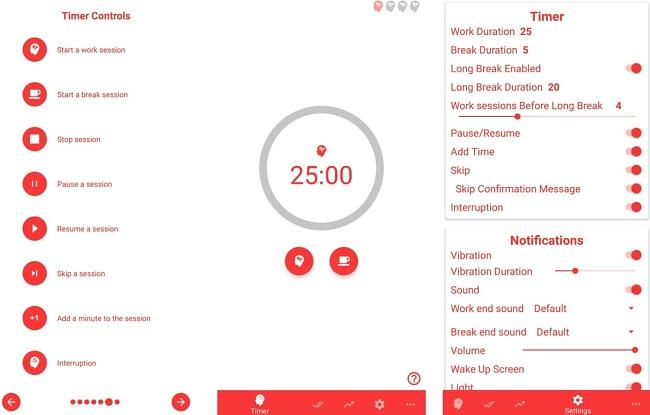 Screenshot of the Brain Focus app.