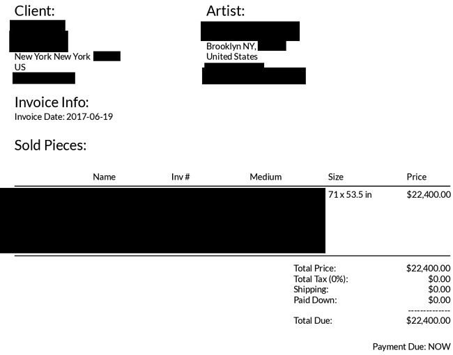 Examples of invoices (personal details redacted) part 1