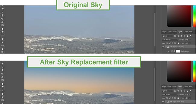 Sky Replacement Filter