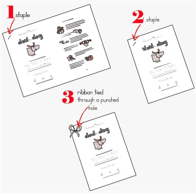 Three ways to assemble free printable books from Progressive Phonics.