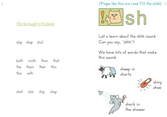 The intermediate phonics books teach kids about letter blends