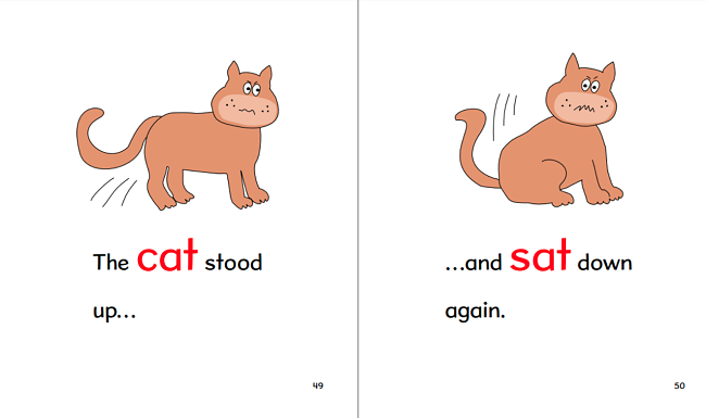 The All Cat Club introduces new words with pictures