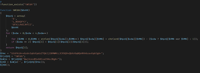 Malicious code in the backend of Coninsa Ramon's website